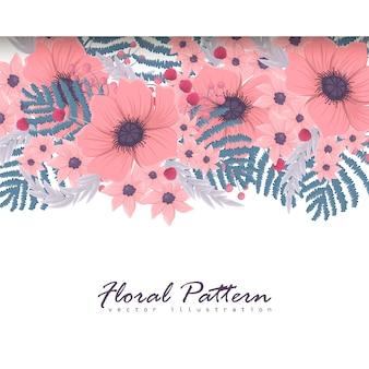 Plantilla de banner. hermosas flores. tarjeta de felicitación. cuadro.