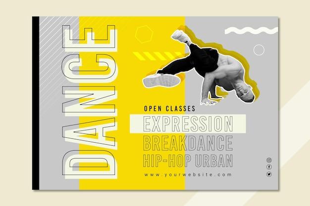 Plantilla de banner horizontal de clase de baile