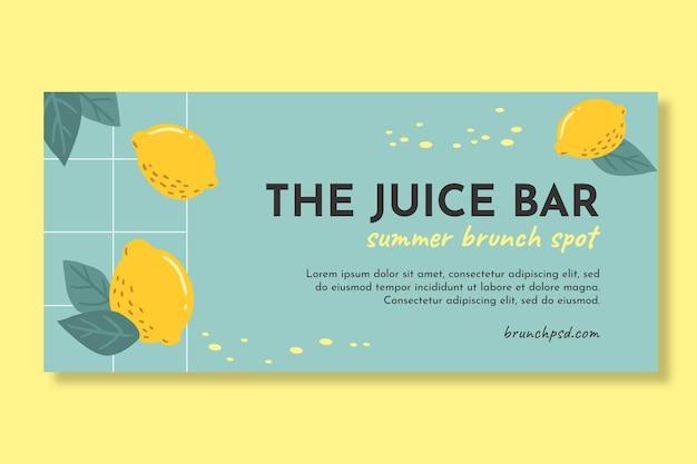 Plantilla de banner horizontal de delicioso brunch