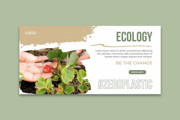 Plantilla de banner horizontal de medio ambiente