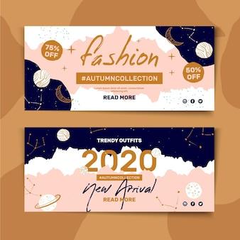 Plantilla de banner horizontal para venta de moda