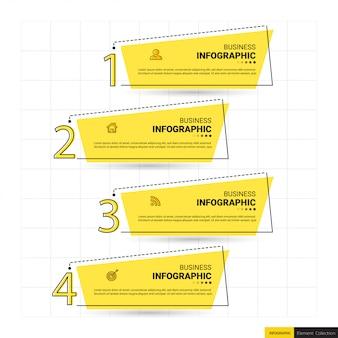 Plantilla de banner de infografía