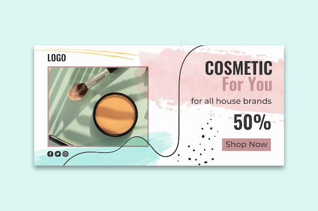 Plantilla de banner de instagram cosmético
