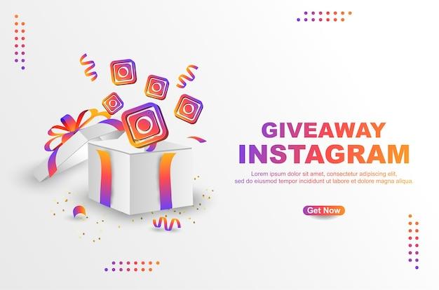 Plantilla de banner de instagram de sorteo
