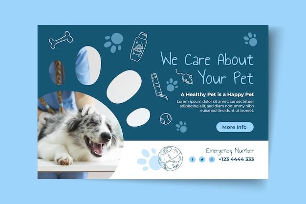 Plantilla de banner de instagram veterinario