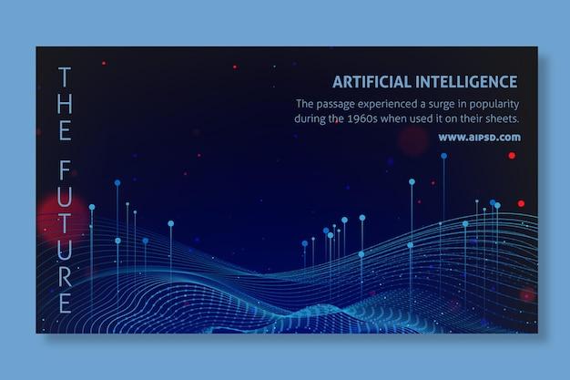 Plantilla de banner de inteligencia artificial