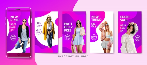 Plantilla de banner líquido de moda moderna para redes sociales