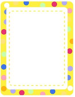 Plantilla de banner de marco colorido vacío