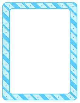 Plantilla de banner de marco de rayas diagonales vacías