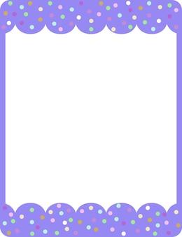 Plantilla de banner de marco de rizo púrpura vacío