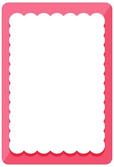 Plantilla de banner de marco de rizo rosa vacío