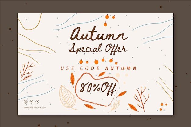 Plantilla de banner de mediados de otoño