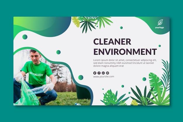 Plantilla de banner de medio ambiente