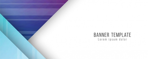Plantilla de banner moderno elegante abstracto