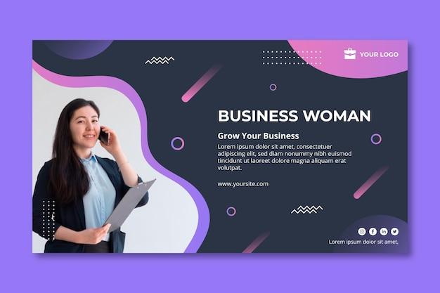 Plantilla de banner de mujer de negocios
