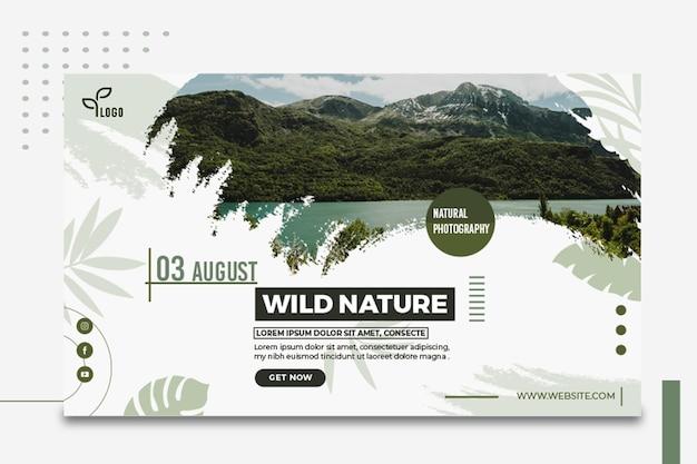 Plantilla de banner de naturaleza salvaje vector gratuito