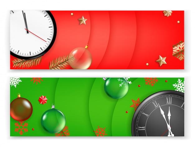 Plantilla de banner de navidad, banner publicitario