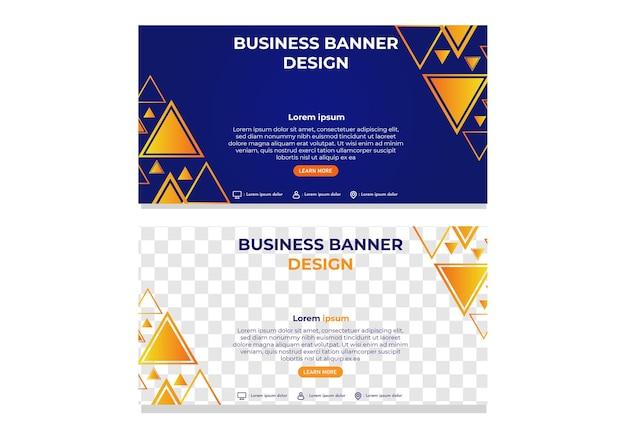 Plantilla de banner de negocio degradado triángulo abstracto moderno