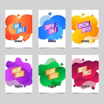 Plantilla de banner de negocios de color líquido