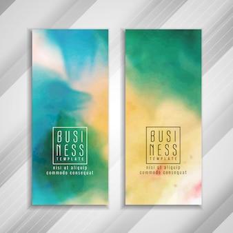 Plantilla de banner de negocios colorido abstracto
