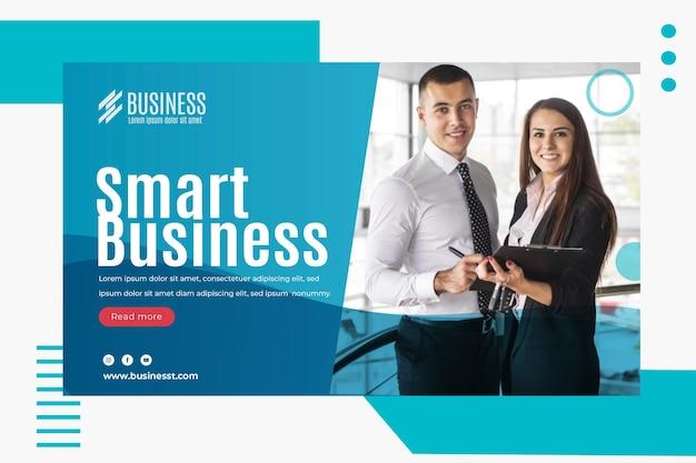 Plantilla de banner de negocios inteligente