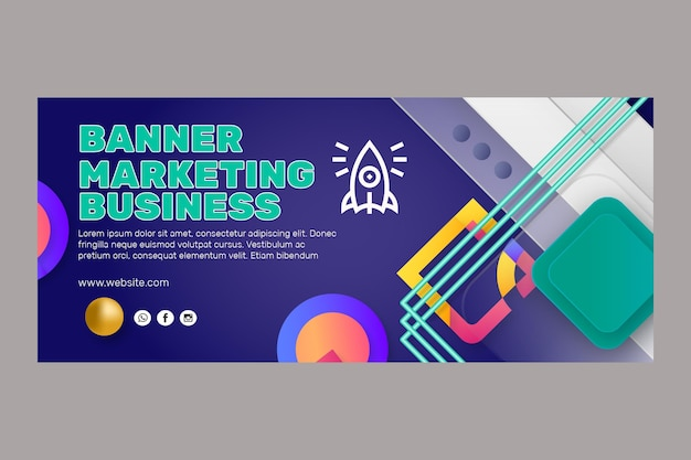Plantilla de banner de negocios de marketing