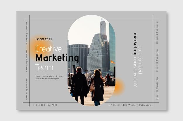 Plantilla de banner de negocios de marketing