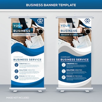 Plantilla de banner de negocios modernos