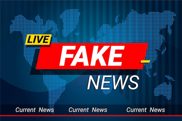 Plantilla de banner de noticias falsas en vivo