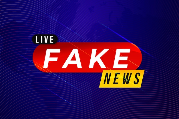 Plantilla de banner de noticias falsas