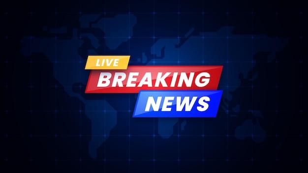 Plantilla de banner de noticias reaking en vivo