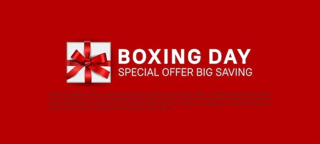 Plantilla de banner de oferta especial de venta del día del boxeo