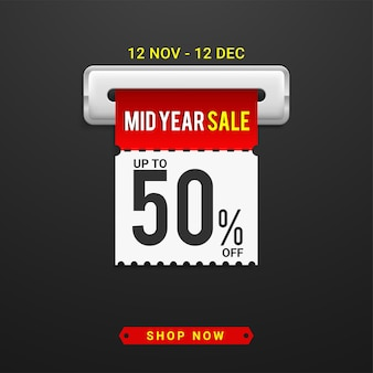 Plantilla de banner de oferta especial de venta de mediados de año