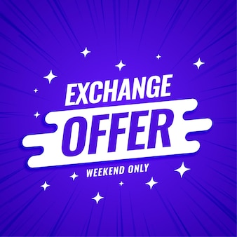 Plantilla de banner de oferta de intercambio moderno