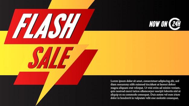 Plantilla de banner de oferta de venta flash