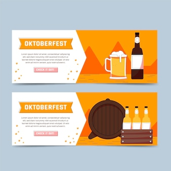 Plantilla de banner de oktoberfest