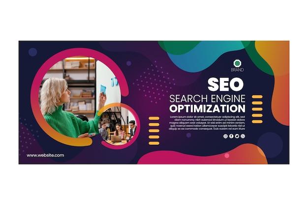 Plantilla de banner de optimización de motores de búsqueda seo
