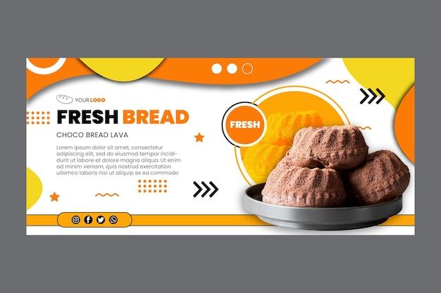 Plantilla de banner de pan vector gratuito