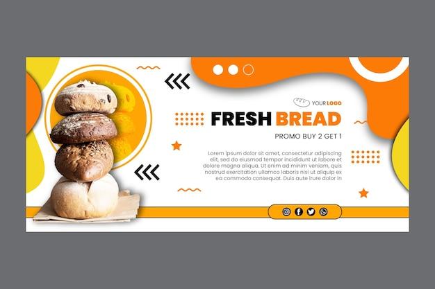 Plantilla de banner de pan