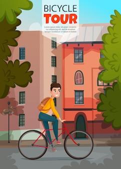 Plantilla de banner de paseo en bicicleta