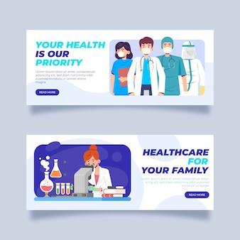 Plantilla de banner personal médico gracias