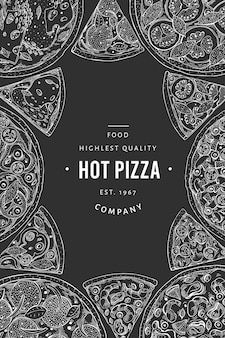Plantilla de banner de pizza italiana de vector