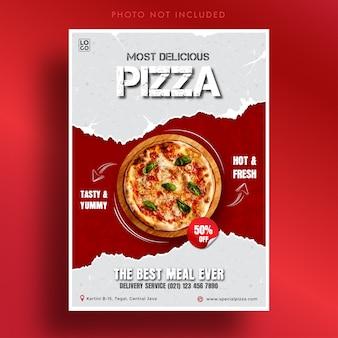 Plantilla de banner de pizza más deliciosa