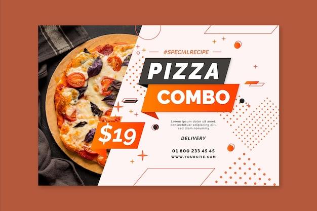 Plantilla de banner de pizza