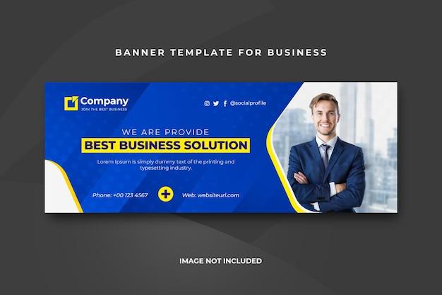 Plantilla de banner de portada empresarial