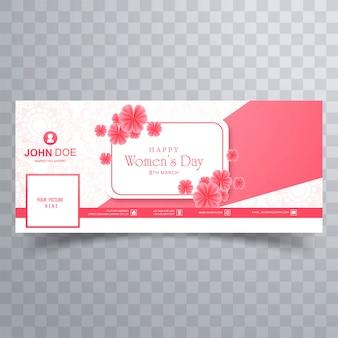 Plantilla de banner de portada de facebook para el día de la mujer
