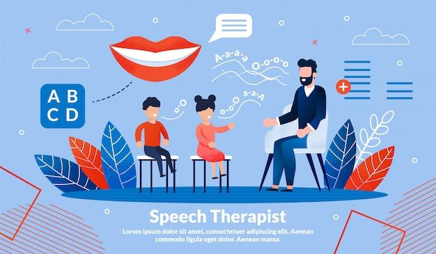 Plantilla de banner de práctica de terapeuta del habla