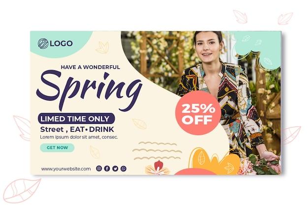 Plantilla de banner de primavera