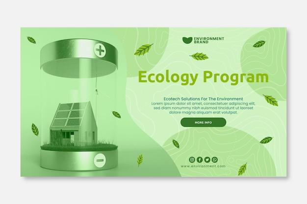 Plantilla de banner de programa de ecología