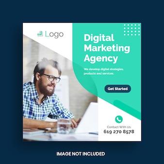 Plantilla de banner de promoción empresarial y redes sociales corporativas